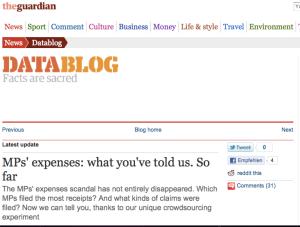 Datablog, Guardian