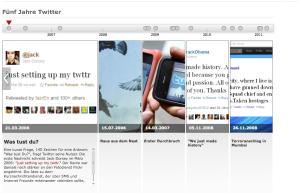 5 Jahre Twitter - Zeitleiste auf spiegel.de