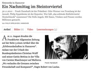 """faz.net: """"Ein Nachmittag im Steintorviertel"""""""