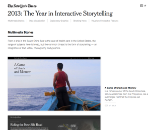 The Year in Interactive Storytelling