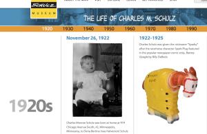 Chales M. Schult timeline Peanutsum 20.52.17